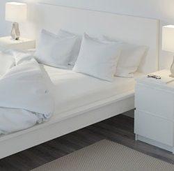 Biela postelna bielizen